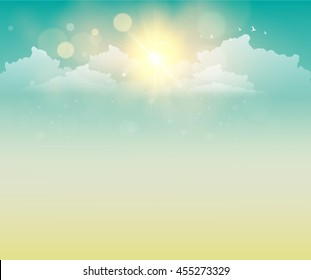 Vector Illustration of Abstract sunset with defocused lights - eps10