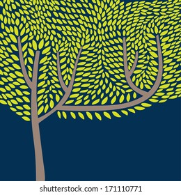 Vector illustration with abstract tree