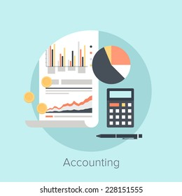 Vector illustration of accounting flat design concept.