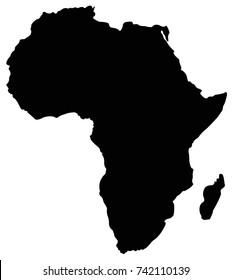 vector illustration of Africa map