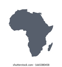 Vector illustration: Africa map, silhouette of the continent