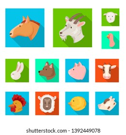 Vector illustration of agriculture and breeding sign. Set of agriculture and organic  stock symbol for web.