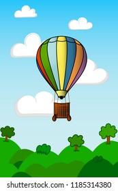 Vector illustration air balloon
