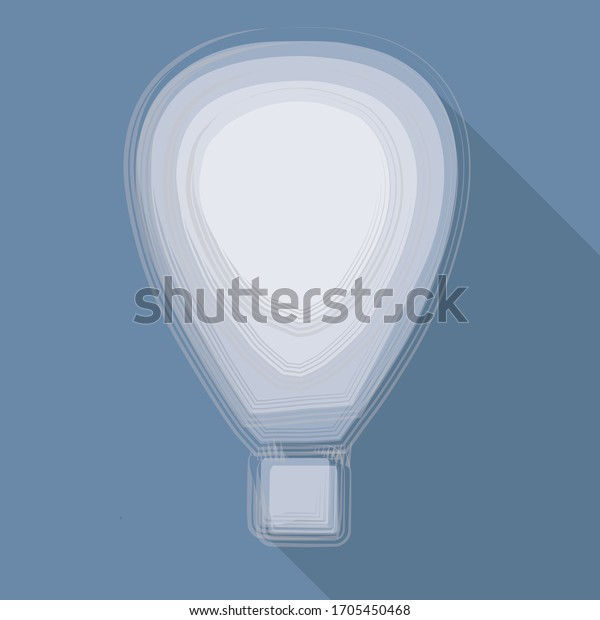Illustration vectorielle, BALLONS D'AIR sur fond bleu