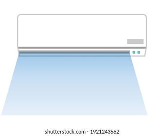Vector illustration of air conditioner.