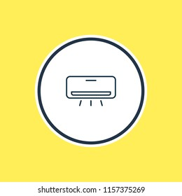 Vector illustration of air conditioner icon line. Beautiful travel element also can be used as cooler icon element.