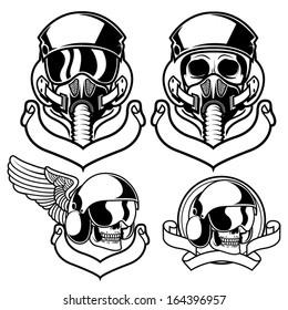 Vector illustration of air force pilot badges