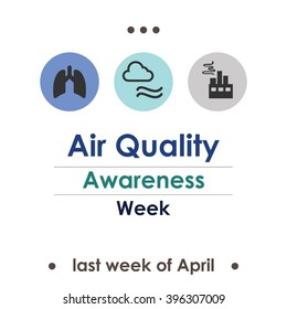 vector illustration / air quality awareness week