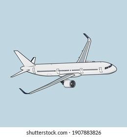 Vector illustration of an aircraft