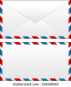 Vector illustration of airmail envelope