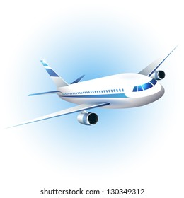 Vector illustration of the airplane