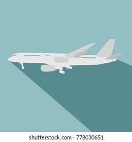 Orange Civil Aviation Air Plane Vector Stock Vector (Royalty Free