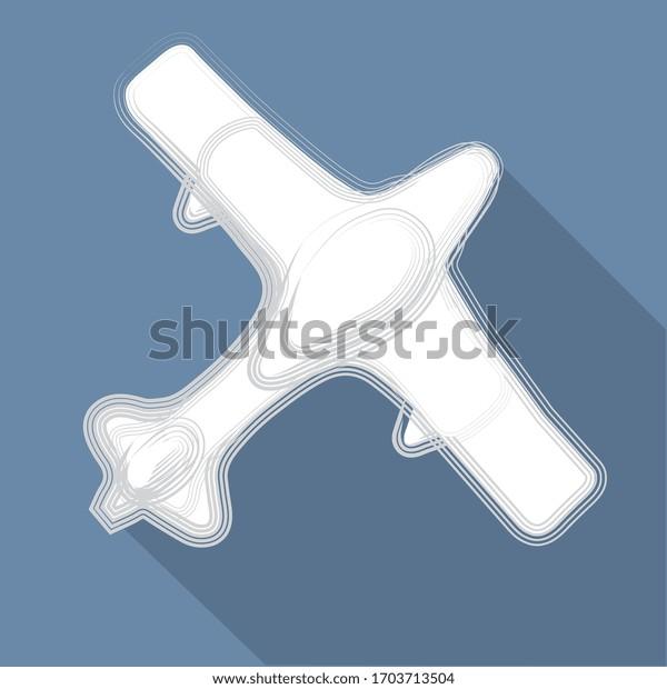illustration vectorielle, avion sur fond bleu
