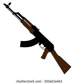 Vector illustration AK47 icon. Kalashnikov machine gun