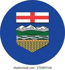 vector illustration of Alberta flag