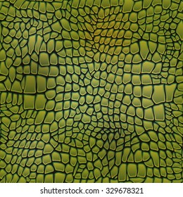 Vector illustration of alligator skin seamless art crocodile