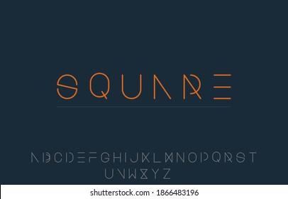 vector illustration of alphabet capital letter A to Z logo design