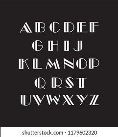 vector illustration of a alphabet font capital letters
