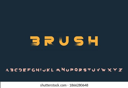 vector illustration of alphabet letter A to Z