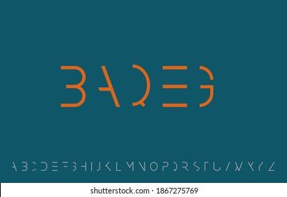 vector illustration of alphabet letter A to Z logo design