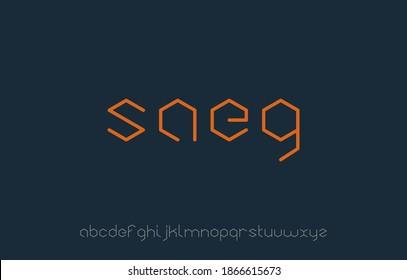 vector illustration of alphabet small letter logo design in hexagon shape