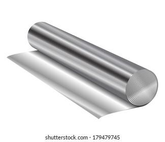 Vector illustration of aluminum foil