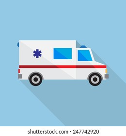 Vector illustration ambulance car