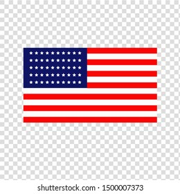 Vector illustration of the american flag. Isolated object.
