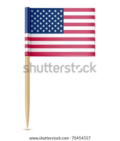 e5dfe4b69319 Vector Illustration American Flag Toothpick Stock Vector (Royalty ...