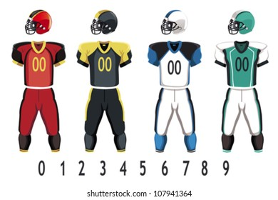 A vector illustration of American football jersey