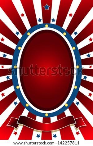 vector illustration american patriotic background copyspace stock