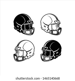Vector illustration of American soccer helmet.