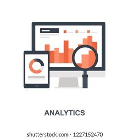 Vector illustration of analytics flat design concept.