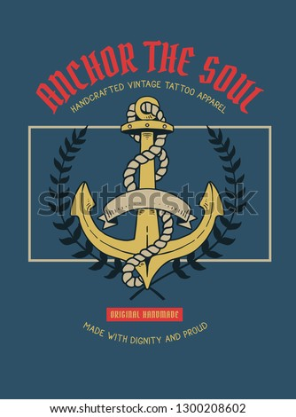 972e66cd5 Vector Illustration Anchor Nautical Tattoo Stock Vector (Royalty ...
