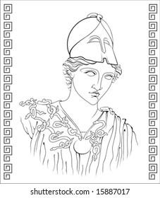 vector illustration of ancient Greek goddess