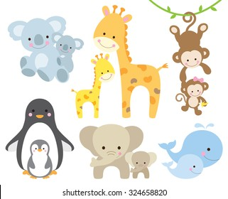 Cartoons+baby+animals Images, Stock Photos & Vectors | Shutterstock