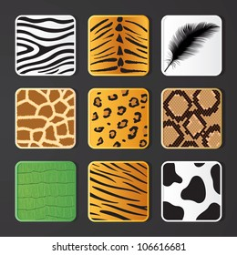 Vector illustration of animal skin