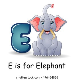 E for elephant images stock photos vectors shutterstock vector illustration of animals alphabet e is for elephants thecheapjerseys Gallery