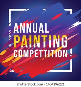 Vector illustration of Annual Painting Competition design