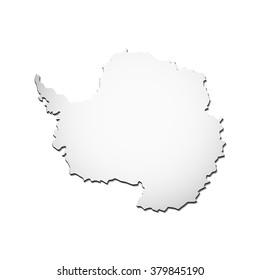 vector Illustration Antartica map