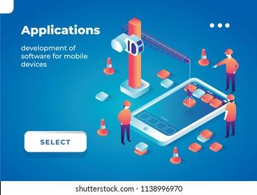 Vector illustration of app development