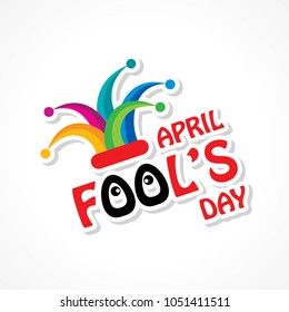 Vector illustration of April Fools Day lettering text for greeting card