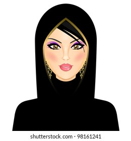 Vector illustration of arab woman