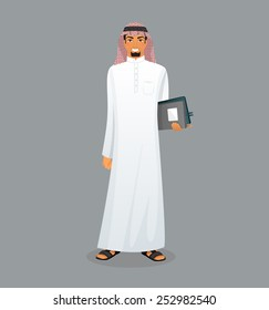 Vector illustration of Arabic man character image