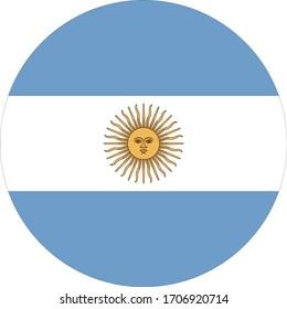 vector illustration of Argentina flag