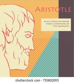 Vector illustration of Aristotle - ancient Greek philosopher