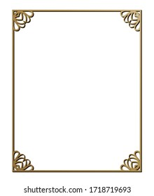 Vector illustration of art deco borders and frames. Creative pattern in the style of the 1920s for your design.