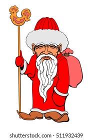 Vector illustration of an Asian Santa Claus