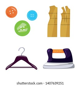 Vector illustration of atelier and sewing icon. Collection of atelier and tailoring stock vector illustration.
