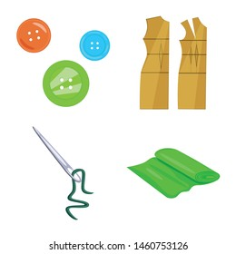 Vector illustration of atelier and sewing sign. Set of atelier and tailoring stock symbol for web.
